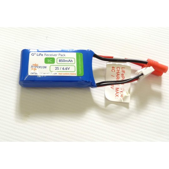 Hyperion LiFe 6.6V 850 mAh Receiver Battery Pack (HP-FG305-850-2S)