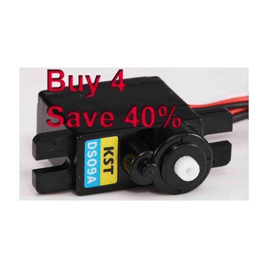 Buy 4+ KST DS09A Servos and SAVE 40% (KST-DS09AX4)
