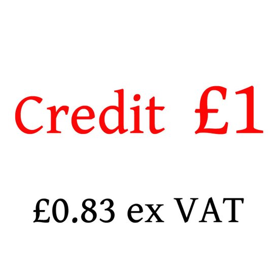 £1 Credit - not to be used without authority (-CREDIT-100)