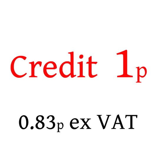 1p Credit - not to be used without authority (-CREDIT-001)
