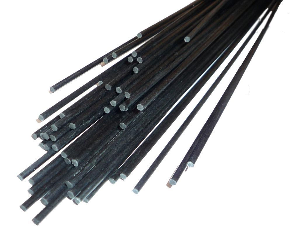R6 5x 6mm OD x 800mm Pultruded Carbon Fibre Rods