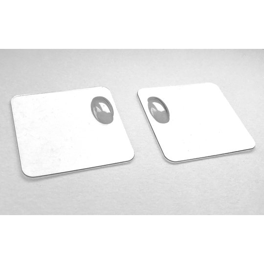 Vladimir's Models Clear Blistered Servo Cover (2) (VM-CLEAR-BLIST-COVER)